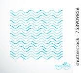 flowing stripes  vector...   Shutterstock .eps vector #753909826