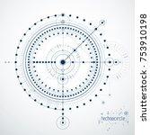 engineering technological... | Shutterstock .eps vector #753910198