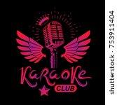 nightclub karaoke advertising...   Shutterstock .eps vector #753911404