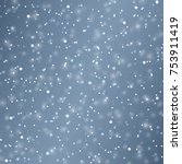 vector snow background.... | Shutterstock .eps vector #753911419