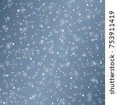 vector snow background.... | Shutterstock .eps vector #753911419