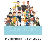 people group different... | Shutterstock .eps vector #753915310