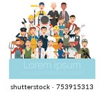 people group different... | Shutterstock .eps vector #753915313