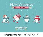 vintage christmas poster design ...   Shutterstock .eps vector #753916714