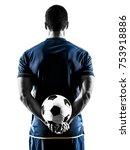 one caucasian soccer player man ... | Shutterstock . vector #753918886