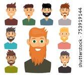 character of various... | Shutterstock .eps vector #753919144
