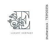 vector graphic elegant logotype ...   Shutterstock .eps vector #753920356