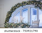 christmas decorations and... | Shutterstock . vector #753921790