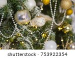 christmas tree and christmas... | Shutterstock . vector #753922354