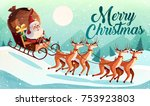 christmas card design template...   Shutterstock .eps vector #753923803