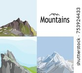 vector set with illustrations... | Shutterstock .eps vector #753924433