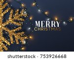 christmas background with... | Shutterstock .eps vector #753926668