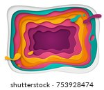 3d abstract background with... | Shutterstock .eps vector #753928474