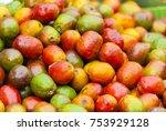 jocotes in guatemala  tropical... | Shutterstock . vector #753929128