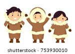 illustration of stickman kids... | Shutterstock .eps vector #753930010
