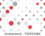seamless polka dot pattern with ...   Shutterstock .eps vector #753931084