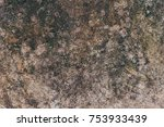 scratched grunge brown concrete ... | Shutterstock . vector #753933439