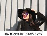 lifestyle portrait of happy... | Shutterstock . vector #753934078
