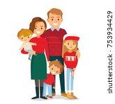 family christmas portrait | Shutterstock .eps vector #753934429
