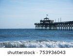 cherry grove pier in north... | Shutterstock . vector #753936043