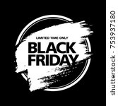 black friday sale badge layout... | Shutterstock .eps vector #753937180