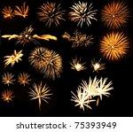 Set Of Gold Firework