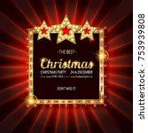 invitation merry christmas...   Shutterstock .eps vector #753939808