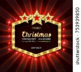 invitation merry christmas... | Shutterstock .eps vector #753939850