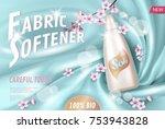sakura flower fabric softener... | Shutterstock .eps vector #753943828