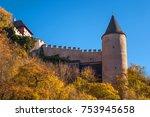 royal castle karlstein in czech ... | Shutterstock . vector #753945658