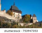 royal castle karlstein in czech ...   Shutterstock . vector #753947353