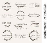 hand drawn logo templates in... | Shutterstock .eps vector #753950860
