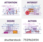vector set of banners with... | Shutterstock .eps vector #753963454
