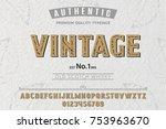 font. alphabet. script.... | Shutterstock .eps vector #753963670