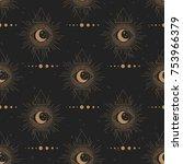 sacred geometry. solar system ... | Shutterstock .eps vector #753966379