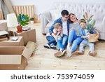 full length portrait of loving... | Shutterstock . vector #753974059