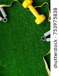 concept preparing to fitness... | Shutterstock . vector #753975838