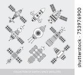 gps satellite for navigation.... | Shutterstock .eps vector #753976900