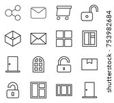 thin line icon set   share ... | Shutterstock .eps vector #753982684