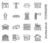 thin line icon set   shop... | Shutterstock .eps vector #753983098