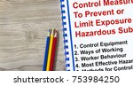 control measure to limit... | Shutterstock . vector #753984250