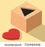 heart box vector illustration.... | Shutterstock .eps vector #753984448
