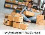 young entrepreneur  teenager... | Shutterstock . vector #753987556