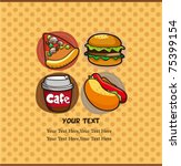fast food card | Shutterstock .eps vector #75399154