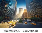 new york city street   park... | Shutterstock . vector #753998650