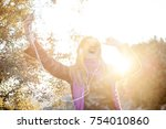 beautiful and attractive blond... | Shutterstock . vector #754010860