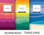 chocolate bar packaging set.... | Shutterstock .eps vector #754011496