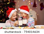 picture showing joyful kids... | Shutterstock . vector #754014634