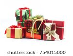 gift boxes on white background | Shutterstock . vector #754015000