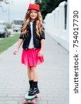 Stylish fashion little girl...